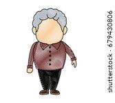 portrait of happy grandfather...   Shutterstock .eps vector #679430806