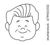 portrait of happy grandfather...   Shutterstock .eps vector #679431532