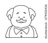 portrait happy grandfather man...   Shutterstock .eps vector #679432426