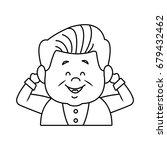 portrait happy grandfather man...   Shutterstock .eps vector #679432462