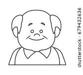 portrait happy grandfather man...   Shutterstock .eps vector #679432636