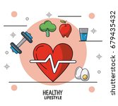colorful poster of healthy... | Shutterstock .eps vector #679435432