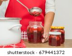 housewife preparing a homemade... | Shutterstock . vector #679441372