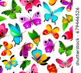 colorful and bright seamless... | Shutterstock .eps vector #679446526