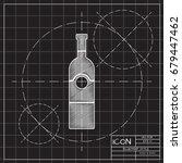vector blueprint vine bottle...   Shutterstock .eps vector #679447462
