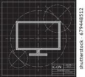 vector blueprint tv or monitor...   Shutterstock .eps vector #679448512