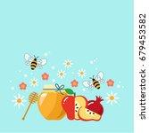 rosh hashana hebrew new year... | Shutterstock .eps vector #679453582