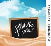 summer holiday background | Shutterstock . vector #679454536