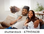 picture of happy family... | Shutterstock . vector #679454638