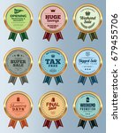 set of promotion and sale... | Shutterstock .eps vector #679455706