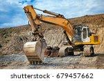 industrial heavy duty excavator ... | Shutterstock . vector #679457662
