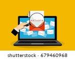 concept of virus  piracy ... | Shutterstock .eps vector #679460968