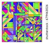 trendy geometrical vector...   Shutterstock .eps vector #679463026