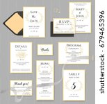 wedding stationery collection.... | Shutterstock .eps vector #679465396