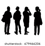 silhouettes people from the... | Shutterstock .eps vector #679466206