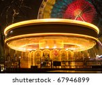 Merry Go Round Lit Up At Night...