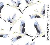 crane   pattern  vector ...   Shutterstock .eps vector #679471132