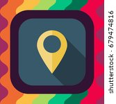 location pin flat icon with... | Shutterstock .eps vector #679474816