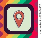 location pin icon with outline... | Shutterstock .eps vector #679474996