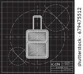 vector blueprint case icon on... | Shutterstock .eps vector #679475512