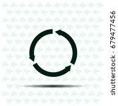 circular arrows vector icon   Shutterstock .eps vector #679477456