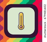 thermometer icon with outline...