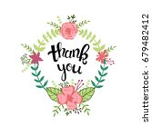 thank you. hand drawn lettering ... | Shutterstock .eps vector #679482412