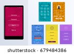 simple and colorful ui set for... | Shutterstock .eps vector #679484386