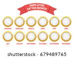employee of the month calendar. ... | Shutterstock .eps vector #679489765