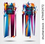 futuristic frame art design... | Shutterstock . vector #679492972