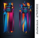 futuristic frame art design... | Shutterstock . vector #679493032