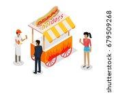 hotdogs concept web banner....   Shutterstock . vector #679509268