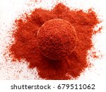 red chilli powder    Shutterstock . vector #679511062