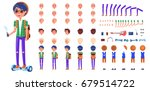 person constructor with modern... | Shutterstock .eps vector #679514722