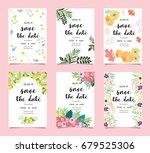 wedding invitation card... | Shutterstock .eps vector #679525306