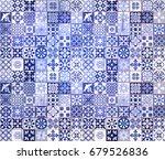 blue portuguese tiles pattern   ... | Shutterstock . vector #679526836