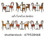 vector border set of hand drawn ...   Shutterstock .eps vector #679528468