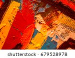 hand drawn oil painting....   Shutterstock . vector #679528978