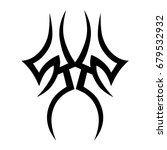 tattoo tribal vector design.... | Shutterstock .eps vector #679532932