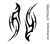 tattoo tribal vector design.... | Shutterstock .eps vector #679532986