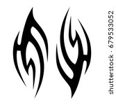 tribal tattoo art designs.... | Shutterstock .eps vector #679533052
