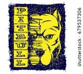 vector illustration dog breed... | Shutterstock .eps vector #679537306