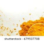 turmeric powder    Shutterstock . vector #679537708
