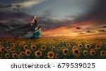fantasy portrait of young... | Shutterstock . vector #679539025