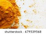 turmeric powder    Shutterstock . vector #679539568