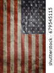 old usa flag. grunge background.... | Shutterstock . vector #679545115