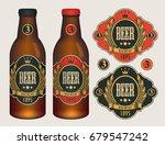 vector beer labels with coat of ... | Shutterstock .eps vector #679547242