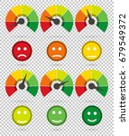 scale from red to green with... | Shutterstock .eps vector #679549372