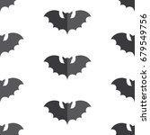 halloween seamless pattern... | Shutterstock .eps vector #679549756
