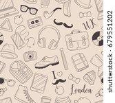seamless background  pattern ... | Shutterstock .eps vector #679551202